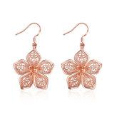 Bijou de boucles d'oreille de femmes de goutte pour les oreilles de femmes plaqué par or de Rose
