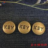 Kundenspezifisches Firmenzeichen-Antimessingfarben-Denim-Taste für Jeans