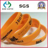 Silicone da cor/bracelete cor-de-rosa do silicone com Glitter (KSD-883)