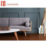 Retratos europeus nórdicos do estilo de projetos ajustados do sofá de madeira para a sala de estar