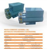 AC 400Hz 208V +DC 28.5V 무브러시 동시 지상 전원 장치 발전기
