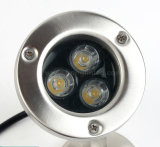 les lumières sous-marines IP68 de 3PCS Edison 3W DEL imperméabilisent des lumières de jardin