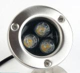 3W IP68 делают светильники водостотьким светов СИД сада подводные