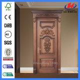 Puerta tallada interior de madera sólida de la sola antigüedad del panel