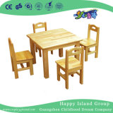 Los muebles del jardín de la infancia embroman conjuntos de madera del vector y de la silla con el escritorio doble (HG-3802)