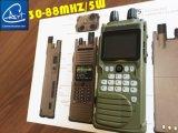 Radio bidirezionale tenuta in mano della fascia bassa larga, radio tenuta in mano tattica in fornitore 30-88MHz/5W