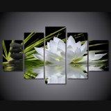 HD afgedrukte Lotus en Stenen die het Canvas van het Beeld van de Affiche van het Af:drukken van het Decor van de Zaal van het Af:drukken van het Canvas schilderen