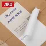 Forti contrassegni di trasporto bianchi impermeabili adesivi del contrassegno di indirizzo della fodera della pergamina sottile