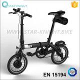 bici piegante del blocco per grafici su ordinazione della lega della bicicletta della batteria di 14-Inch 24V
