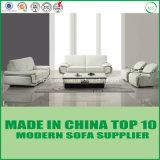 Sofá de madeira de couro macio da mobília moderna à moda