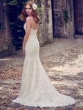 2018 Русалки устраивающих Gowns кружева точек тюль спагетти ремни свадебные платья Z1059