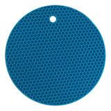Couvre-tapis rond de cuvette de forme de nid d'abeilles de silicones d'utilisation de cuisine de qualité