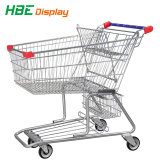スーパーマーケットのプラスチック買物車手のショッピングトロリー