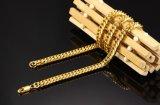 Monili Chain cubani della collana del nuovo di arrivo di modo degli uomini della catena a maglia della collana 18K serpente Braided maschio di doratura elettrolitica
