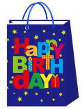 Sacs en papier de transporteur de cadeau d'art de produits de fête d'anniversaire