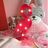 홍학 큰천막 벽 장식 휴일 생일 파티 LED 램프 빛 건전지는 아이 아기 성인 침실을%s 작동했다