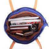 Sacchetto dell'imbracatura della signora di sacchetto del Tote della borsa della tela di canapa delle donne singolo spalla