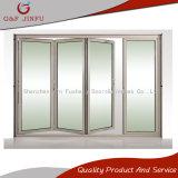 Puerta deslizante BI-Plegable interior exterior del panel del aluminio de la doble vidriera