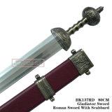 Spade romane antiche del cavaliere con la guaina 80cm HK137rd