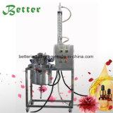 Acero inoxidable de 20 litros de aceite esencial destilador