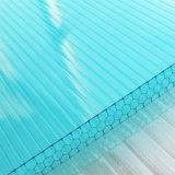 лист поликарбоната сота озера 8mm голубой полый для толя