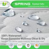 クイーンサイズ低刺激性の防水マットレスの保護装置のベッドバグの塵のまぐさ桶カバー