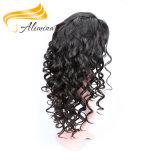 Peluca de calidad superior del cordón del pelo humano de las existencias de la peluca del cordón