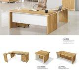 A mesa do gerente da tabela executiva dos jogos da mesa de escritório ajusta a tabela executiva com gabinete, jogos da mobília de escritório