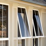Los materiales de construcción de extrusión de aluminio Toldo de cristal de la ventana