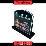 용 호랑이 카지노 테이블 부지깽이 클럽 큰잔 테이블 게임 (Ym-LC05)를 위한 LED에 의하여 제한되는 표시 부지깽이 테이블 내기 한계 표시