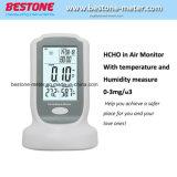 Tester di umidità di temperatura del video di aria di Hcho della formaldeide (CH2O), rivelatore di gas, obbligazione & allarme di protezione, 8801