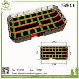 Parque adulto del trampolín de la aptitud, arena extrema del trampolín de Parkour con obstáculos