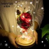 Regalo preservado hecho a mano de la flor para la decoración del cumpleaños