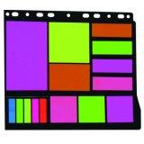 Bloc de notas de suministros de oficina, estudiante de neón personalizado el Bloc de notas adhesivas portátil