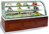 De Lujo en acero inoxidable Rt Cuadro Vitrina expositor refrigerado para tartas comerciales