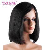 Recto natural del pelo humano de Yvonne el 100% de Bob de la peluca brasileña del cordón