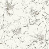 Fleur à la maison imperméable à l'eau de papier peint de Paiting de la belle encre 2017