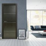 Porte en bois solide intérieure de matériaux de construction de Chambre avec la glace Tempered