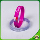 Kundenspezifisches Firmenzeichen-Silikon-Band mit gedrucktem Firmenzeichen-SilikonWristband