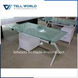 Белая обедая таблица для 4 мест