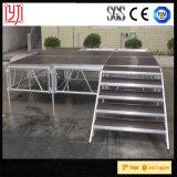 Het Draagbare Stadium van de Vangrail van het aluminium met Trede voor Prestaties