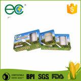 6 Kit de talheres Cpla biodegradável Compostável Saco Kraft enrolado para Hotel