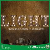 El gigante de LED Etapa Metal carta de amor Alquiler de decoración para Boda