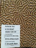 Couro elegante da tela da cortiça natural do projeto do teste padrão para a decoração dos sacos das sapatas (K18-04)