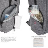 Младенец пеленки ткани снежка кладет Backpack в мешки прогулочной коляски с соединением USB