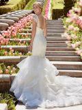 Cap manches robe de mariée robe de mariée en dentelle Vestidos de Mermaid H16427