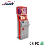 Zahlungs-Kiosk mit der Doppelbildschirm-Bargeld-Münzebill-Kreditkarte-Zahlung wahlweise freigestellt