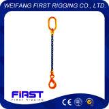 Un'imbragatura a catena della lega del grado 80 di configurazione del piedino