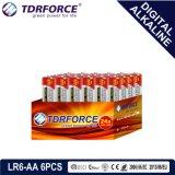 Le mercure et cadmium libre de la Chine fournisseur pile alcaline numérique (LR6-AA 24pcs)