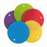Runder Tisch-heiße Auflage-rutschfeste Silikon-Isolierungs-Matte Trivet